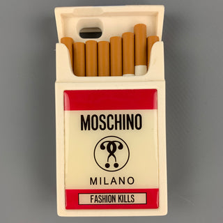 MOSCHINO White & Pink Rubber Cigarette iPhone Case