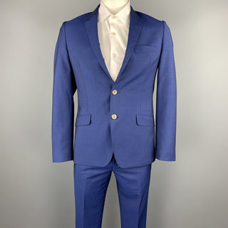 PAUL SMITH Size 40 Regular Royal Blue Wool / Mohair Suit