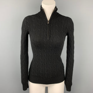 RALPH LAUREN Black Label Size XS Black Knitted Cashmere Sweater