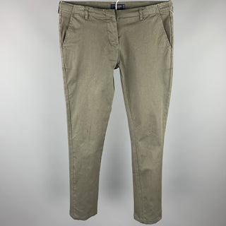 SACOOR BROTHERS Size S Brown Cotton Zip Fly Casual Pants