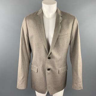 BANANA REPUBLIC Size 42 Regular Khaki Cotton Notch Lapel Sport Coat