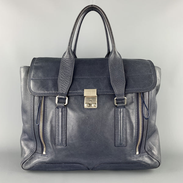 3.1 PHILLIP LIM Blue Soft leather Pashli Top Handles Bag