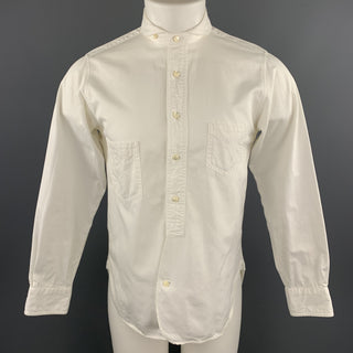 HAVER SACK Size S White Cotton Round Tab Collar Shirt