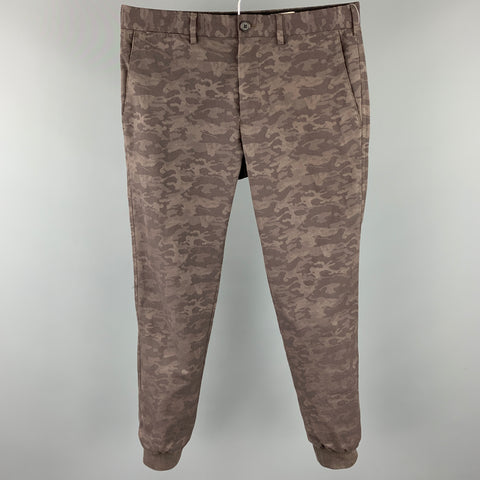 CLUB MONACO Size 30 Grey Camouflage Cotton Zip Fly Casual Pants