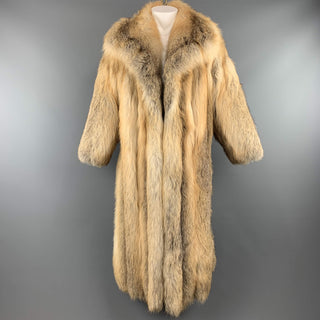 Vintage CUSTOM MADE M Gold Red Fox Fur Long Coat