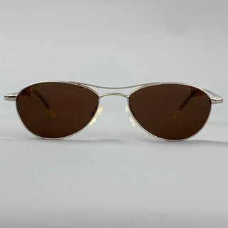 OLIVER PEOPLES Areo Silver Metal Sunglasses