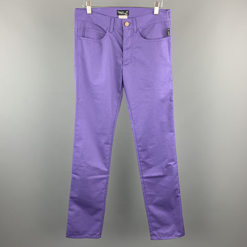 AGNES B. Size 30 Purple Cotton Blend Casual Pants