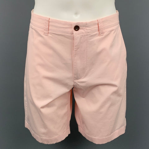 J.CREW Stretch Size 34 Pink Cotton Zip Fly Shorts