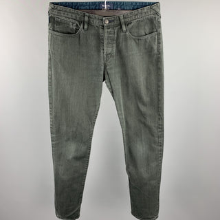 PAUL SMITH JEANS Size 32 Charcoal Cotton Button Fly Jeans