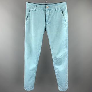 DR. DENIM Size 29 Light Blue Cotton Button Fly Casual Pants