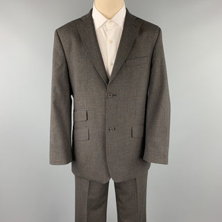 TED BAKER Size 40 Short Charcoal Glenplaid Wool Blend Notch Lapel 34 Suit
