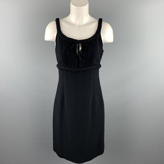 MOSCHINO Size 8 Black Rayon Empire Waist Cocktail Dress