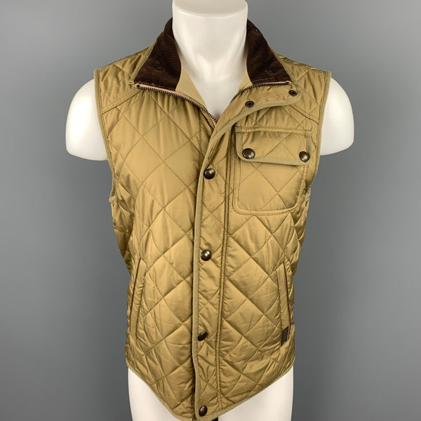 POLO by RALPH LAUREN Size S Tan Quilted Polyester Hunting Vest