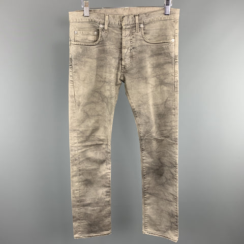 DIOR HOMME Size 28 x 27 Grey Washed Cotton / Elastane Button Fly Jeans
