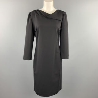 ARMANI COLLEZIONI Size 8 Black Wool Blend Shift Dress