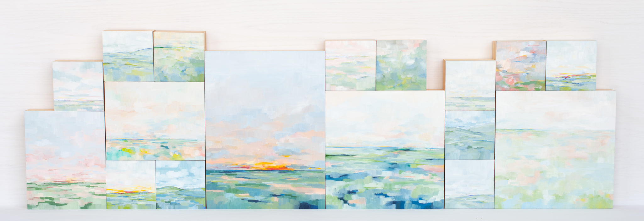 A Few Mornings Later - Diptych of Two 5x5""