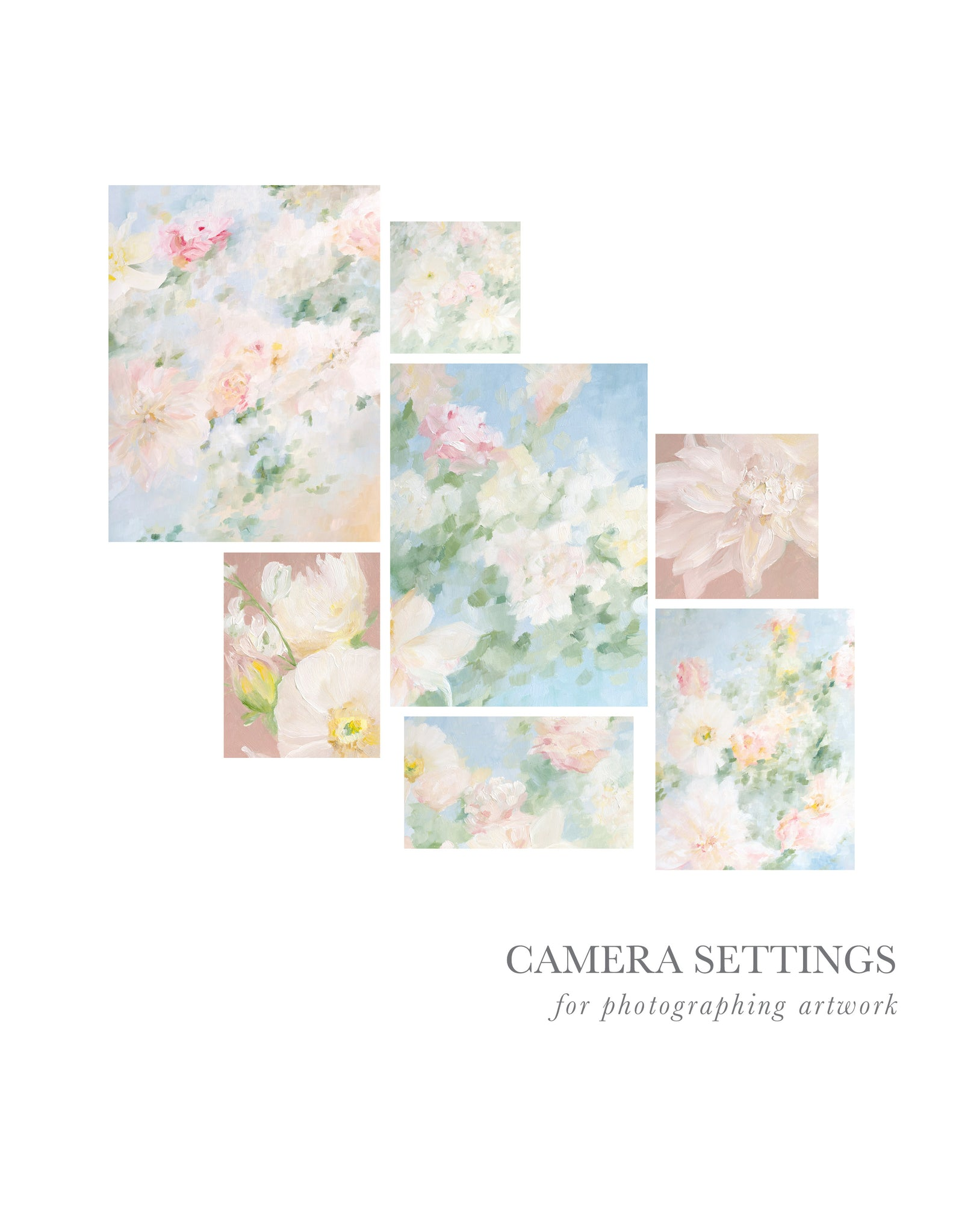 Camera Settings for Photographing Artwork - FREEBIE!