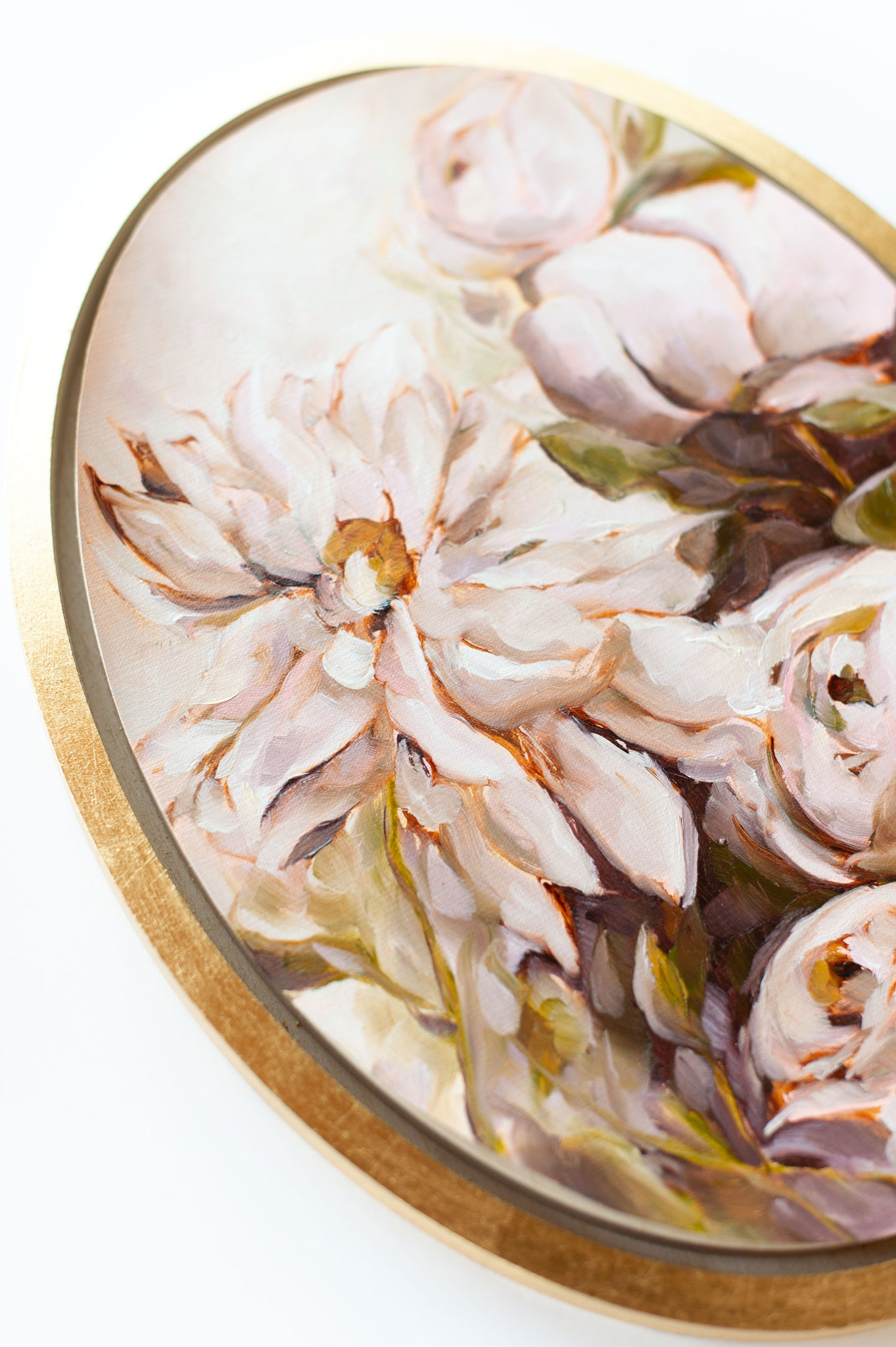 """S'Appuyer Sur Moi"" - 10x14"" Oval - Available French Collection Painting"
