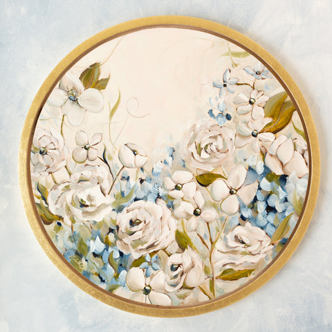 """Joie de Vivre #2"" - 16"" Circle Available Painting"