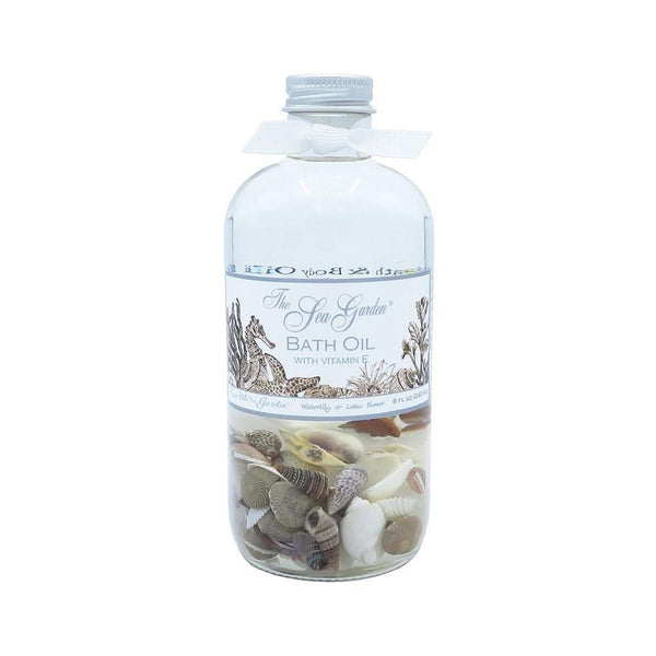 Sea Garden Bath Oil bottle at FantaSea Coastal Home beach house decor