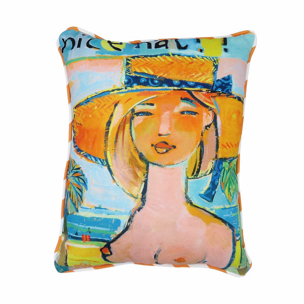 Nice Hat Pillow Blonde
