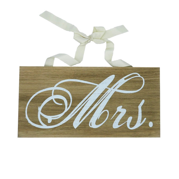 """ Mrs "" Announcement Sign Wood"