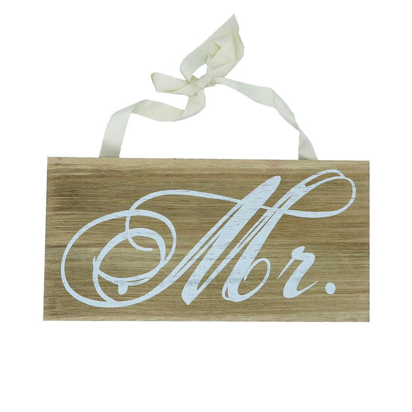 """ Mr "" Announcement Sign Wood"