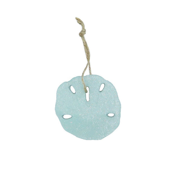 Sand Dollar Ornament - seafoam