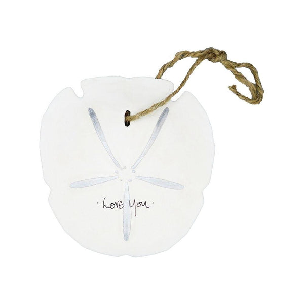 Sand Dollar Ornament - love you