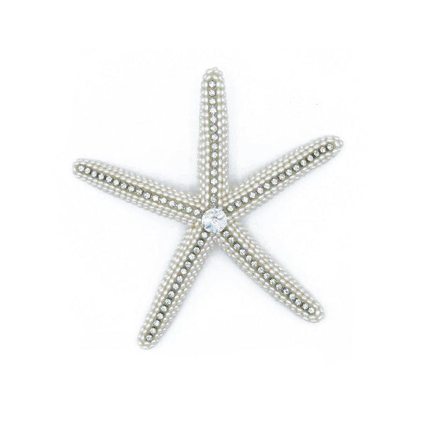 Real starfish sea stars with crystals at FantaSea Coastal Home beach house decor