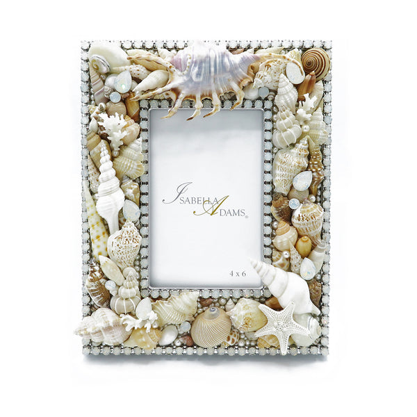 Sea shells photo pictures frames crystals at FantaSea Coastal Home beach house decor