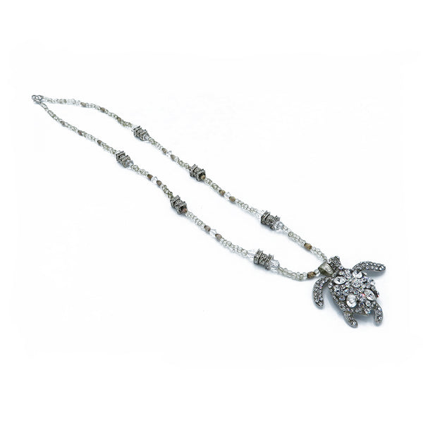 Swarovski crystals sea turtles necklaces at FantaSea Coastal Home beach house decor