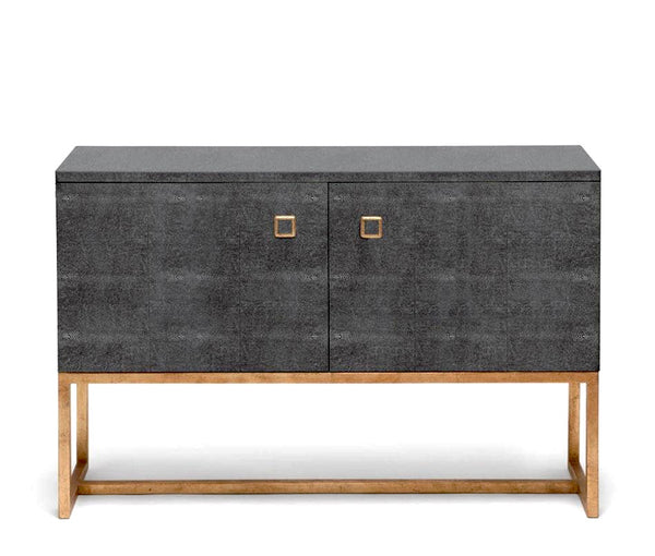 Made Goods Faux Shagreen Buffet Cabinets at FantaSea Coastal Home beach house decor