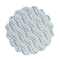 Mystic Echoes round cotton quilted placemats and napkins by C&F at FantaSea Coastal Home beach house decor
