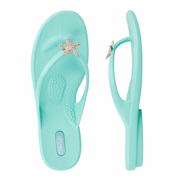 Oka B Jaylin Sea Glass Flip Flops