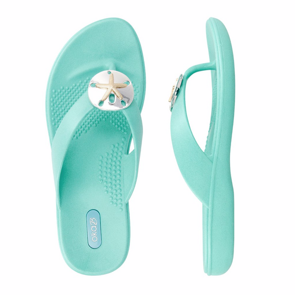 Oka B SANDY Flip Flop - Sea Glass