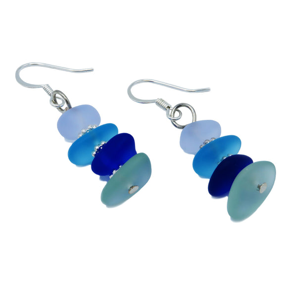 Seaglass sea glass earrings at FantaSea Coastal Home beach house decor
