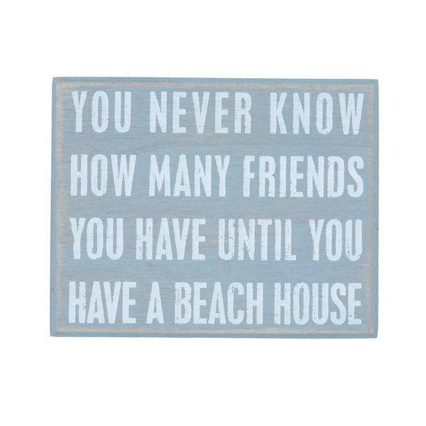 Cute Beach House Box signs at FantaSea Coastal Home beach house decor