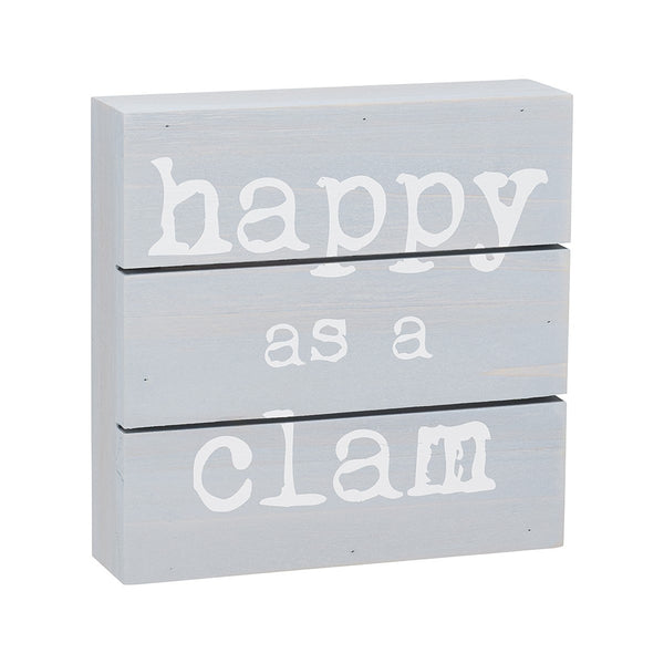 Beach House Signs | Happy as a Clam
