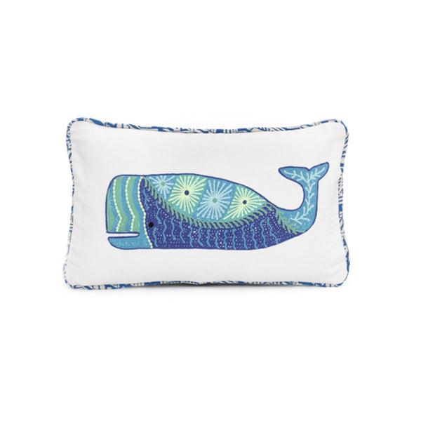 Pillow | Embroidered Whale