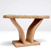 Made Goods woven Sea Grass tables at FantaSea Coastal Home beach house decor