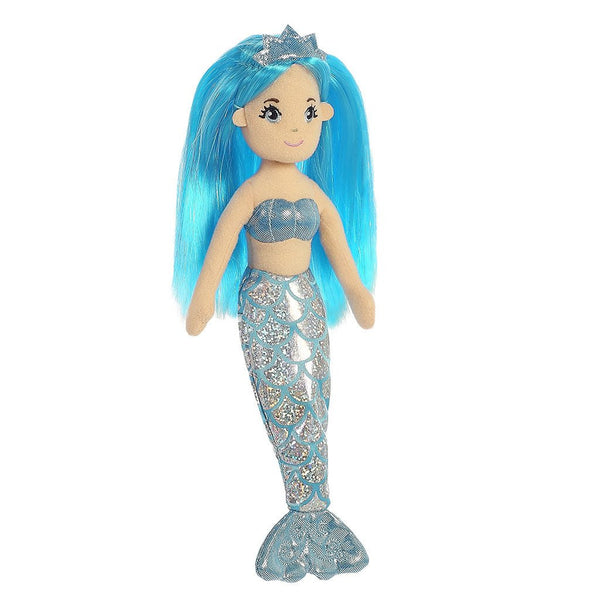 Cute glittery mermaid dolls at FantaSea Coastal Home beach house decor