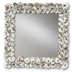 Oyster Sea Shells Mirror at FantaSea Coastal Home for coastal beach house
