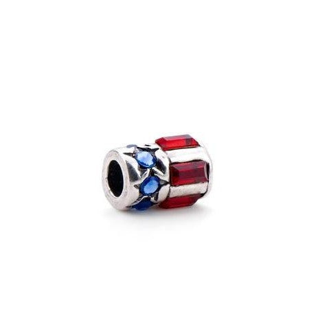 Stars and Stripes Novobeads Sterling silver Jewelry
