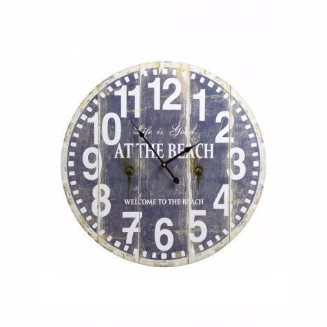 At The Beach Wall Clock