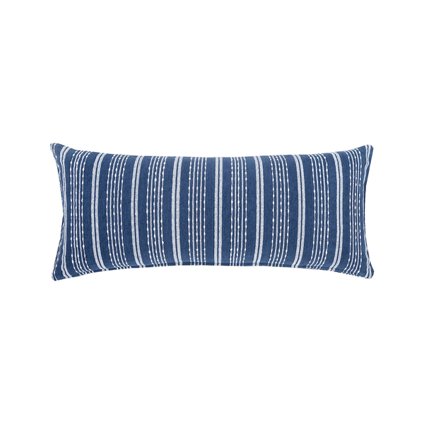 Chenille Pillow navy stripes at FantaSea Coastal Home beach house decor