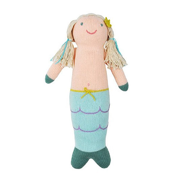 Sweet soft mermaids tails dolls at FantaSea Coastal Home beach house decor