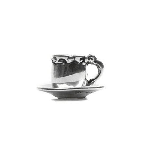 Tea cup sterling silver NOVObeads bracelets jewelry NOVO beads at FantaSea Coastal Home beach house decor