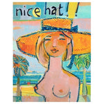 Nice Hat Artwork Blonde by David Scott Meier at FantaSea Coastal Home beach house decor