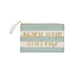 Beach hair travel zipper tasseled purse pouch for make up
